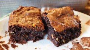 Decadent Dark Chocolate Avocado Brownies