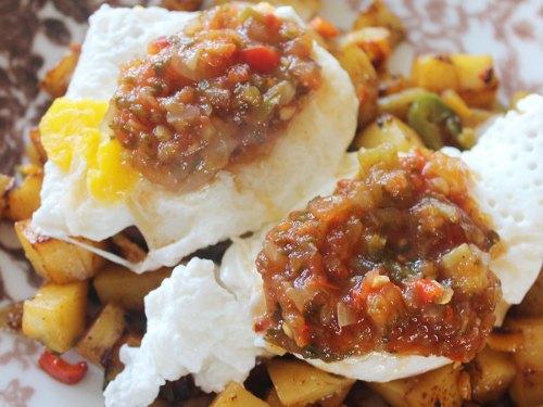 Huevos Rancheros (Ranch Eggs) Lac du Nibiinaabe Style