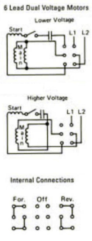 Dayton Reversing Drum Switch Wiring Diagram - on
