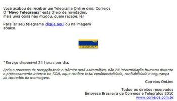 telegrama online dos correios é golpe vírus