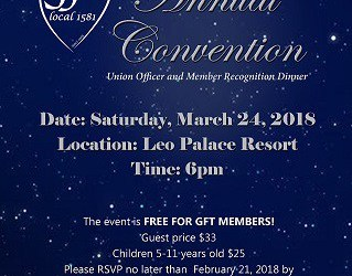 RSVP FOR GFT ANNUAL CONVENTION!