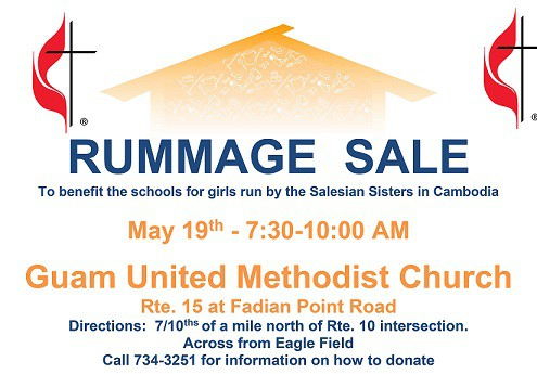 RUMMAGE SALE MAY 19 | GFT