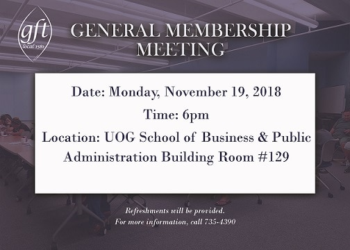 GENERAL MEMBERSHIP MEETING NOVEMBER 19