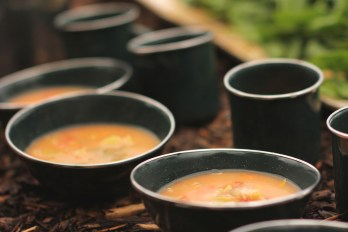 Vegetable chowder for our potluck meal. Some of the veggies were from last year's garden!