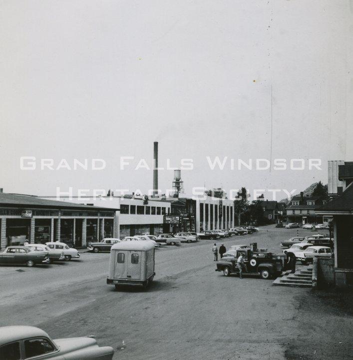 Grand Falls Townsite High Street August 1957