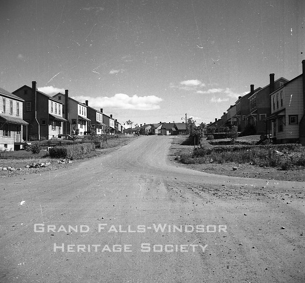 Grand Falls Townsite - Memorial Avenue. September 1956