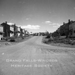 Grand Falls Townsite - Memorial Avenue. September 1956