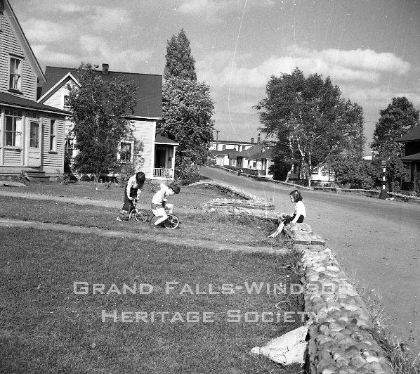 Grand Falls Townsite. Mill Road. September 1956