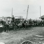 Taxi's at Grand Falls Station 1909