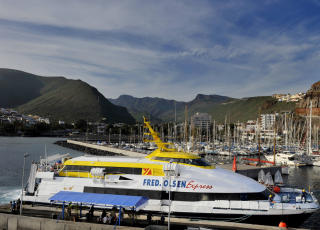 LA GOMERA:  Under en time med hurtigbåten fra Tenerife. Foto: JOHN TERJE PEDERSEN/Dagbladet