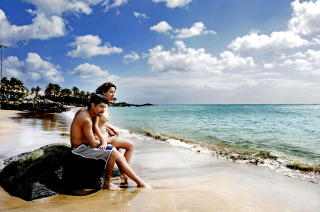 LANZAROTE:  Puerto del Carmens lange strand. Foto: JOHN TERJE PEDERSEN/Dagbladet