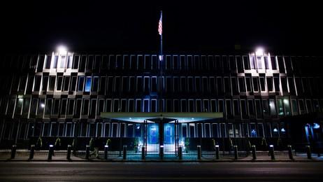 USAs ambassade i Oslo på kveldstid (Foto: Lien, Kyrre/Scanpix)