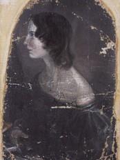 Emily Bronte, portrett malt av hennes bror. (Foto: Wikimedia Commons)