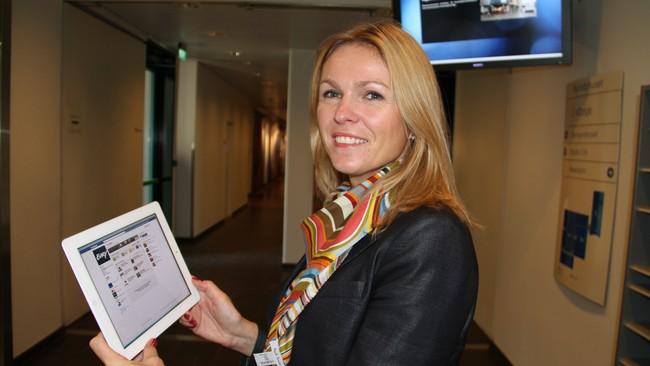 Ann Merethe Sommerseth, leder for selvbetjente løsninger i Evry (Foto: Johan B. Sættem)