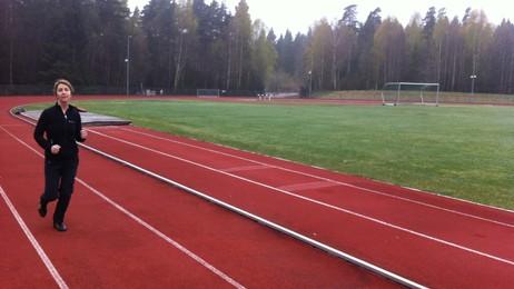 Elin Maageng Jakobsen  er i god form (Foto: Henrik Bøe/NRK)