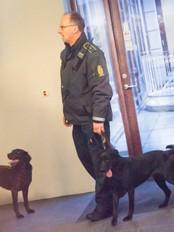 Sikkerhetstiltak i retten i Århus (Foto: Kim Haugaard/Scanpix)