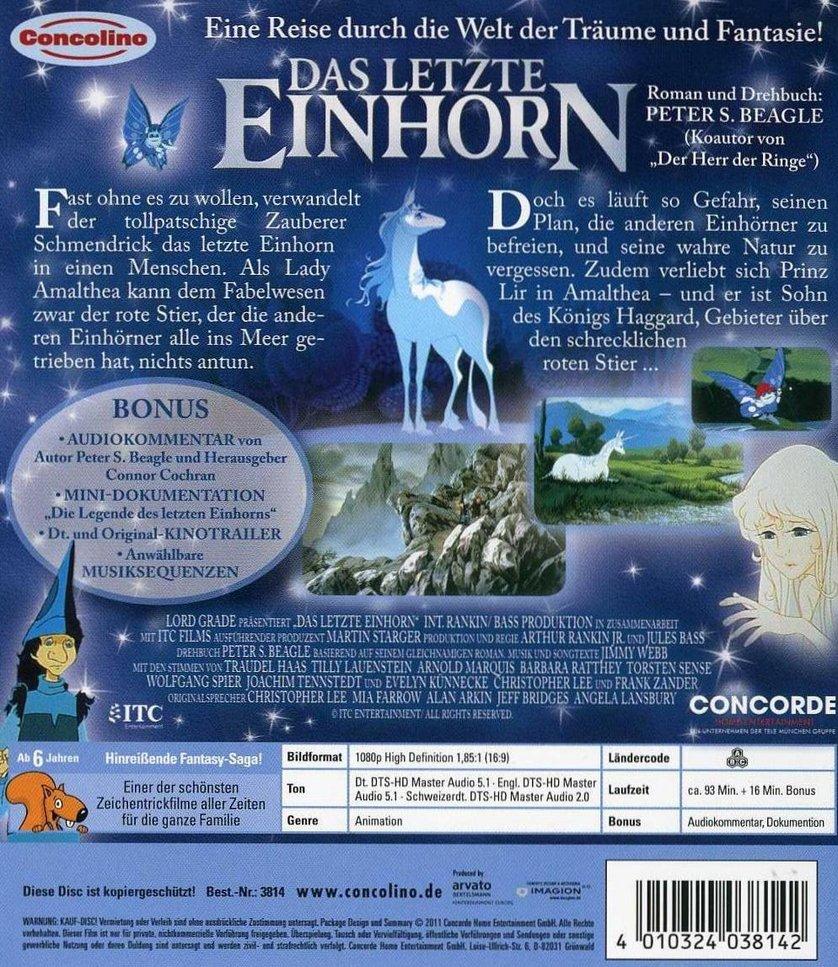 Das letzte Einhorn DVD Blu-ray oder VoD leihen