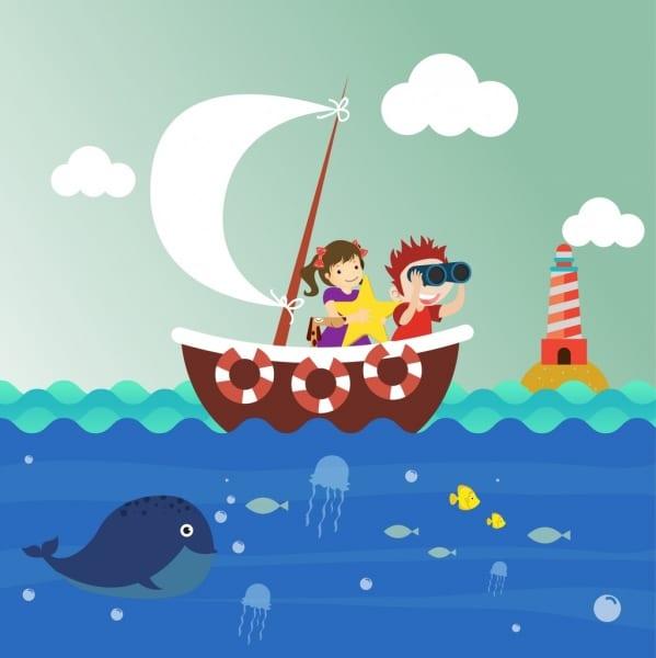 Cute Dolphin Drawing Wallpaper خلفيات فكتور خلفية طفل ايقونات محيط الابحار البحري Kids