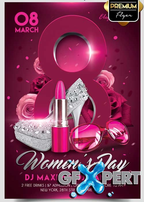 Free Womens Day Flyer PSD Template Facebook Cover Download