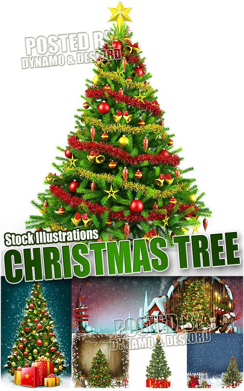 Christmas Tree Illustrations - UHQ Stock Photo