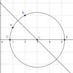 Cirkel gennem 2 punkter og midtnormal
