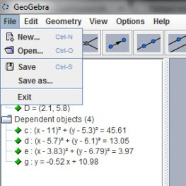 Geogebra 1.0 - Filer