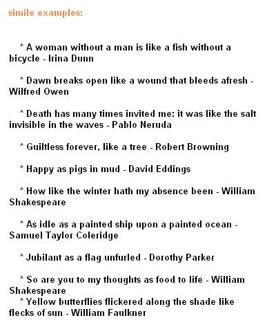 Open End Poem With A Metaphor Examples Poemview