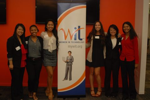 WIT @ GGC girls at the 2014 WIT on Campus Kick Off Event