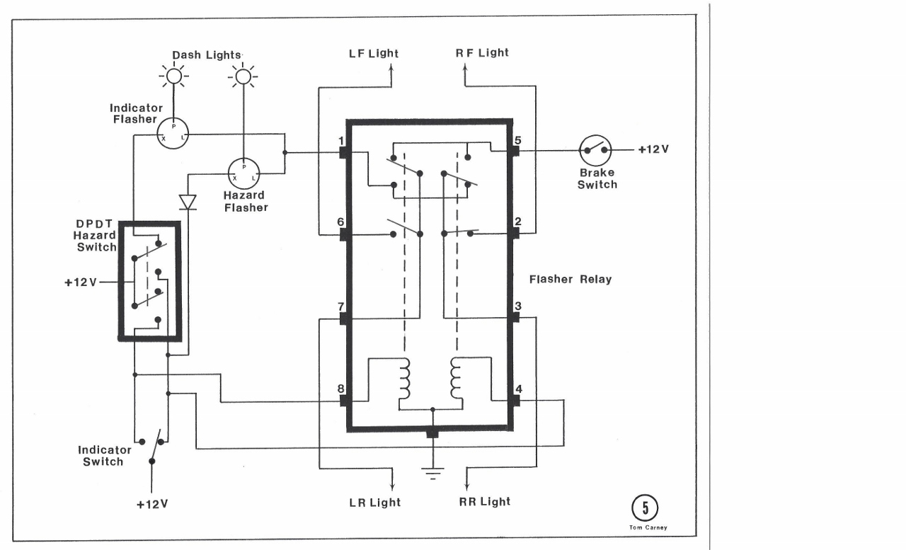 Indicator Flasher Relay Wiring Diagram 12V Relay Wiring
