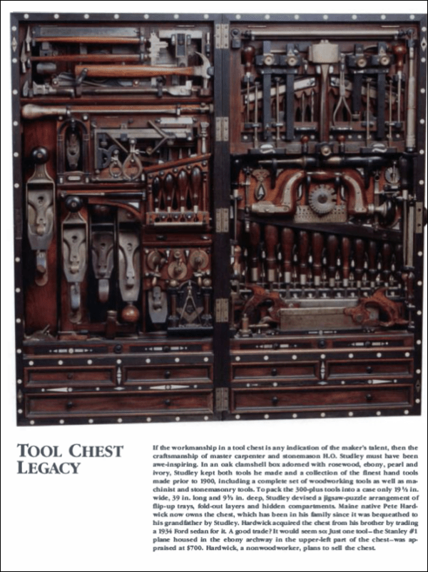 Studley Tool Chest Inventory