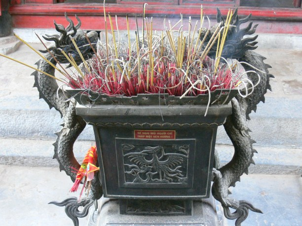 Temple of Literature - Văn Miếu - dragon inspired incense holder