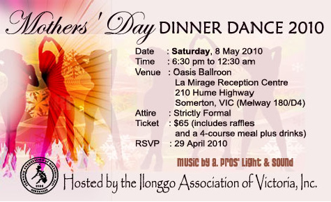 Ilonggo Mother's Day Dinner Dance