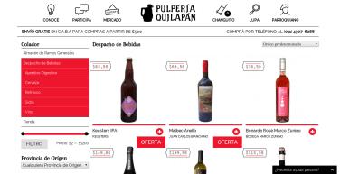 PULPERÍA QUILAPÁN. Comercio físico/online en San Telmo Buenos Aires. Wordpress + Woocommerce + Buddypress. Diseño y programación en equipo. http://pulperiaquilapan.com