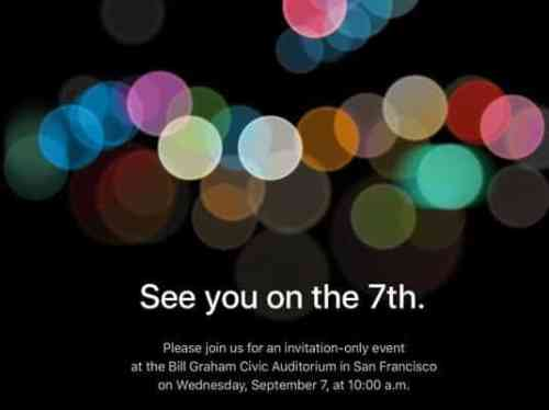 138 iPhone 7 series launch event holds on September 7th