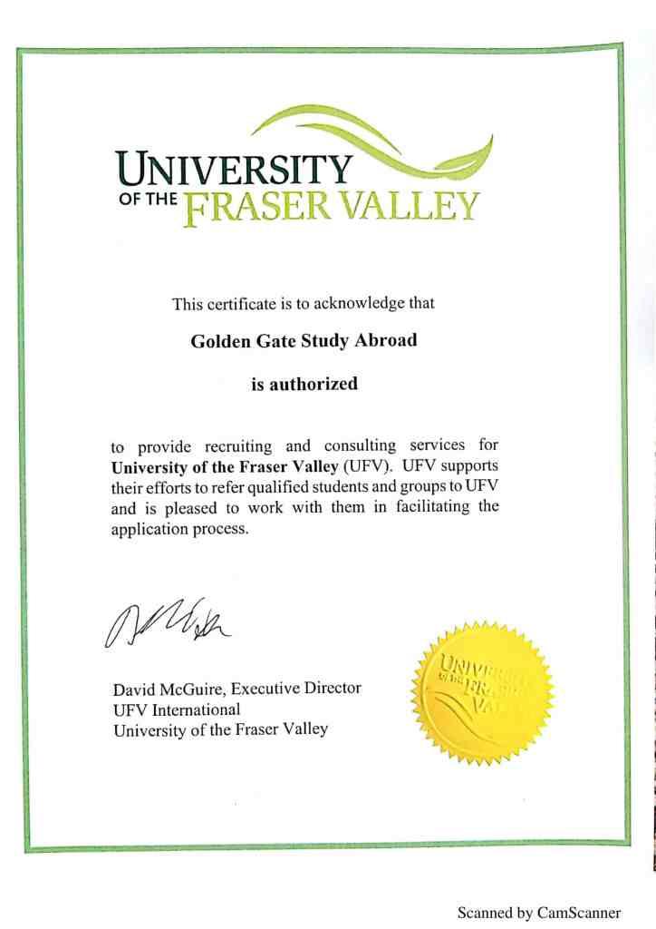 University of the Fraser Valley certificate-1