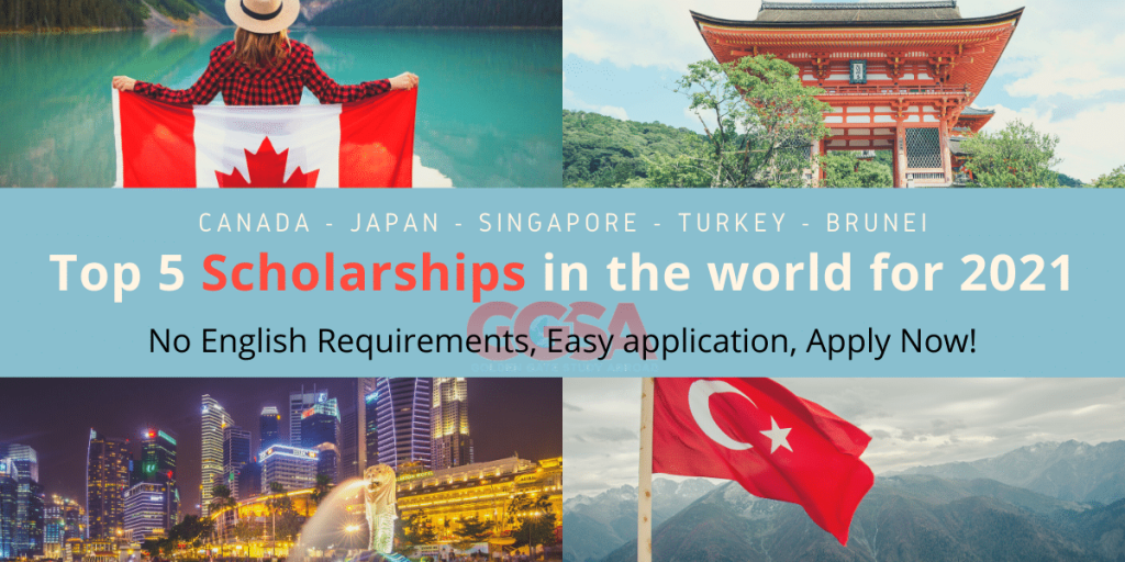 Top 5 scholarships for international students in the world for 2021