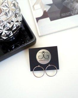 Silver colour circle earrings GG UNIQUE