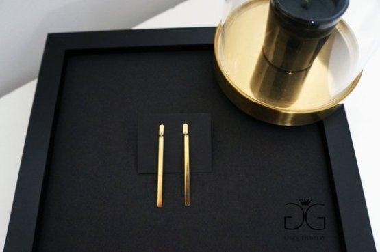 Long minimal bar gold color earrings - GG UNIQUE