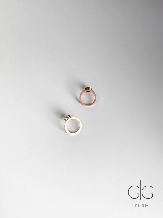 Minimalist round stainless steel circle earrings - GG Unique