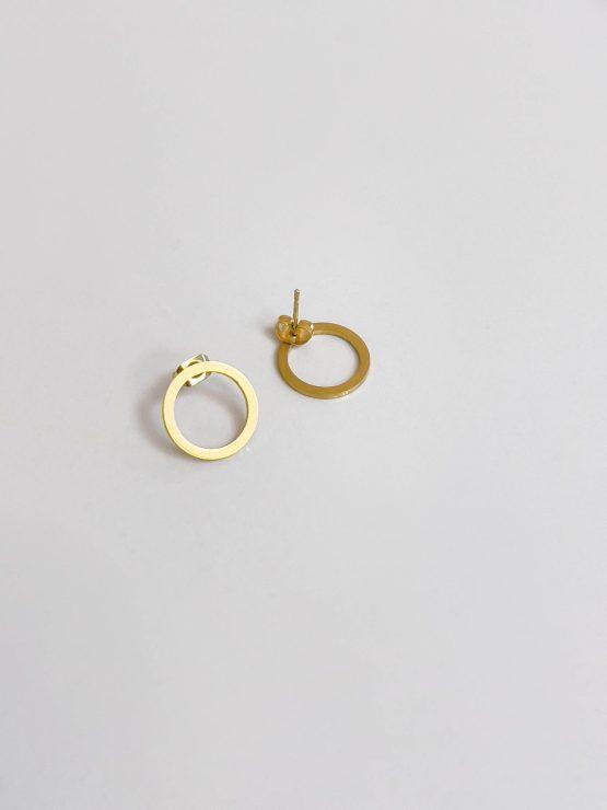 GG unique minimalist round earrings