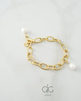 Massive bracelet with fresh water pearls - GG UNIQUE