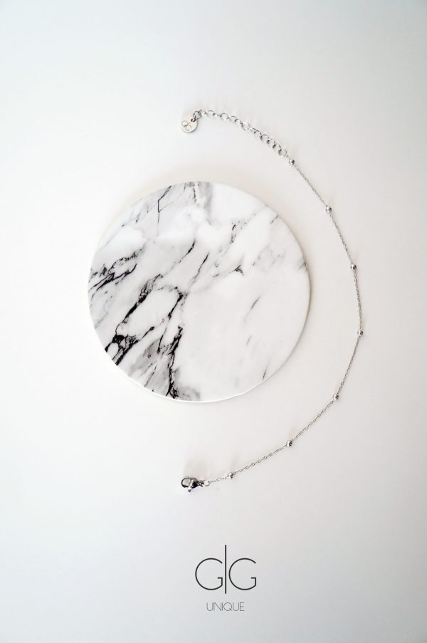 Minimal style bubble stainless steel anklet - GG UNIQUE