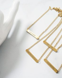 Trendy engraved necklace in gold - GG UNIQUE