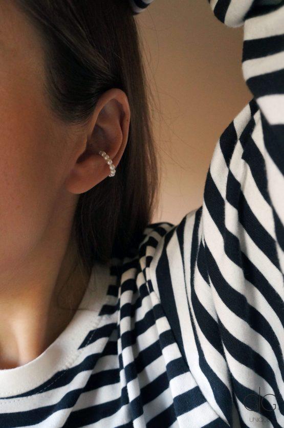 White pearl ear cuff - GG UNIQUE