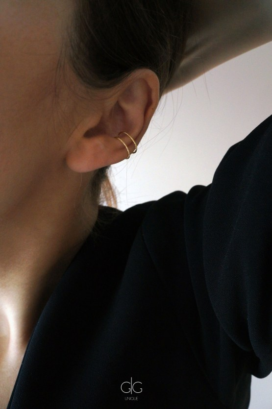 Double wired gold plated ear cuff- GG UNIQUE