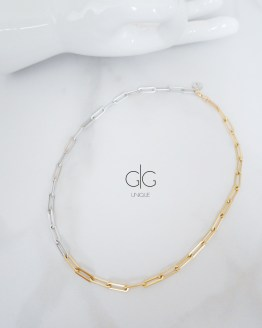 Multicolor minimal necklace in gold and silver - GG UNIQUE