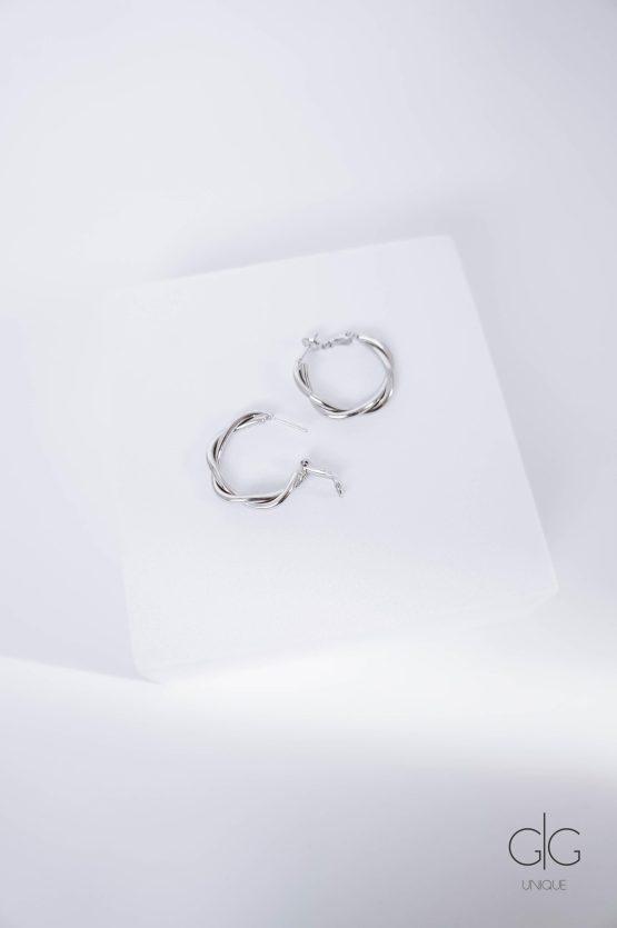 Twisted hoop earrings in silver - GG Unique