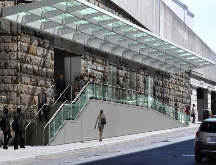 The Union Station Metro entrance on First Street is getting a makeover  Greater Greater Washington