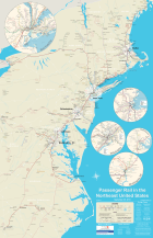 All Northeast Us Passenger Rail On One Awesome Map Greater Greater Washington