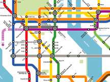 What if the NYC Subway map looked like the DC Metro's ...